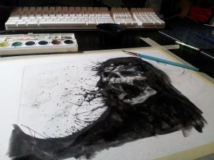 on a darker dawn - ink details