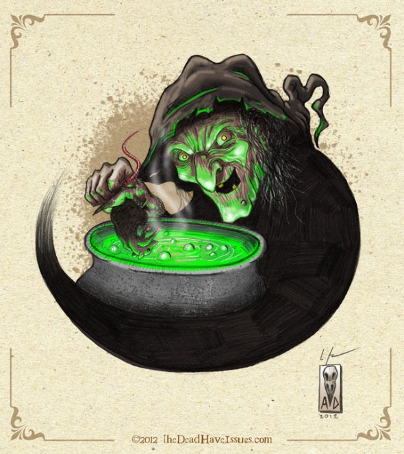 witches brew - halloween sketch #4